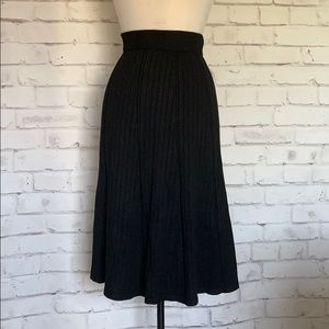Gorgeous Ribbed Sweater Knit A Line Skirt